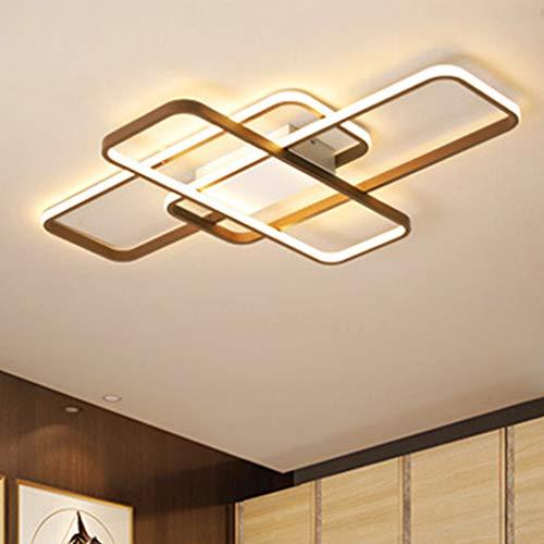 LED Salon Lámpara de Techo Square Restaurante Luz de Techo Rectángulo Diseño...
