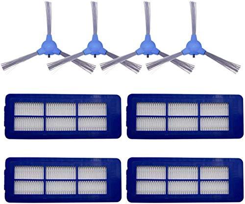 HAOKE 1 cepillo de rodillo + 4 cepillos laterales + 6 filtros para aspiradoras Proscenic 780T 790T - Recambio de cepillos de filtro para aspiradoras (color: 4 filtros)
