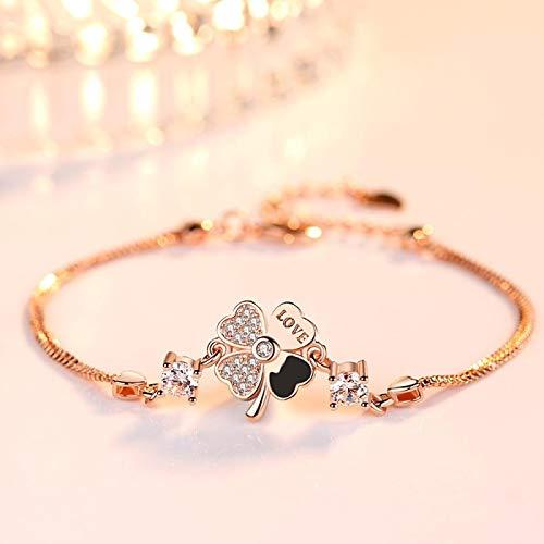 Jewellery Bracelets Bangle For Womens Sterling Silver Bracelet Jewelry Fashion Woman Retro Flower Crystal Bracelet Length 20.5Cm 1182