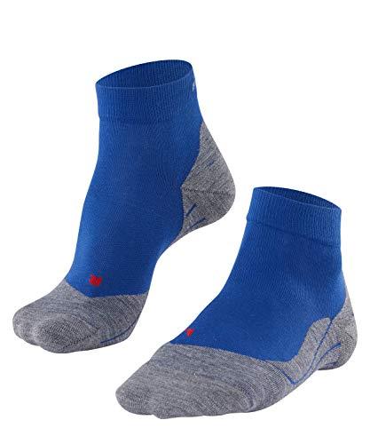 FALKE Herren Laufsocken RU4 short, Kurze Runningsocke mit Baumwolle, leichte Dämpfung für blasenfreies Laufen, 1 er Pack, Blau, 44-45