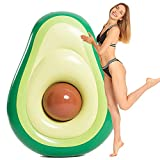 Inflatable Avocado Pool Float Floatie with Ball Pool Chair Lounge, Inflatable Pool Chair, Adult Pool Float, Water Fun Large Blow Up Summer Beach Swimming Floaty Party Toys Lounge Raft for Kids Adults