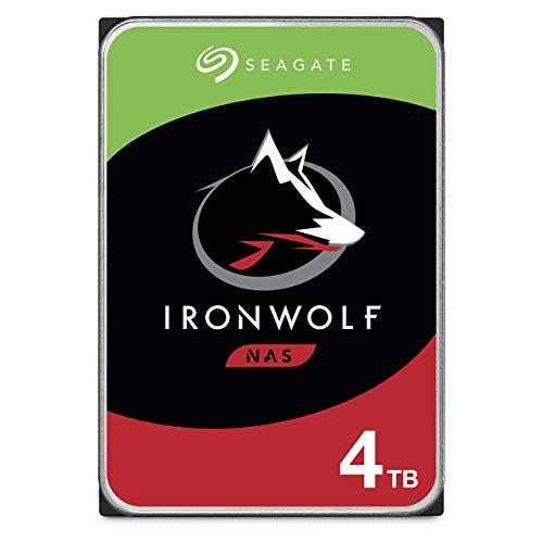"Seagate IronWolf 4 To, Disque dur interne NAS HDD, CMR 3,5"" SATA 6 Gbit/s 5 900 tr/min, 64 Mo de mémoire cache, pour NAS RAID, services Rescue valables 3 ans (ST4000VN008)"