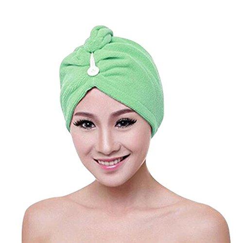 IMJONO Cheveux Serviette Microfibre Twist Cheveux Turban Wrap Super Absorbant du Séchage Rapide Pac Hair Towel Baignoire Serviette Cheveux Sec Chapeau Séchage Rapide Lady Bath Tool(A