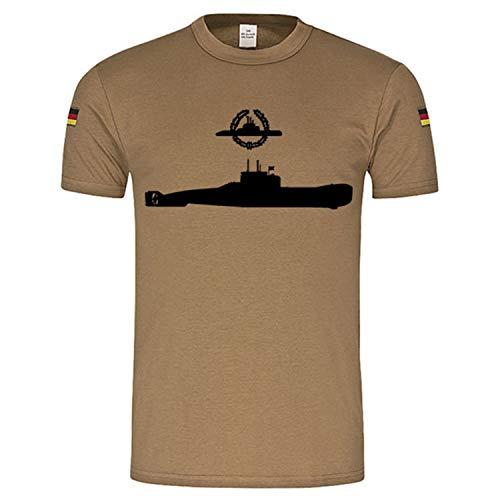 BW Tropici Sottomarino classe 206Distintivo Dell' Esercito Tedesco di U Boot Fahrer Emblem Gold Germania attività Distintivo Trope Shirt Marine bundes Marine sabbia Large