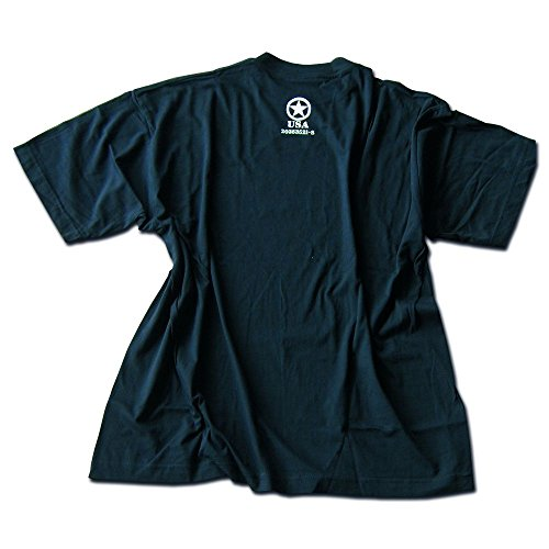 TEE SHIRT NOIR M. DRUCK ALLIED STAR FORCES ALLIEES AMERICAINES USA MANCHES COURTES MILTEC 11053002 AIRSOFT TAILLE XXL