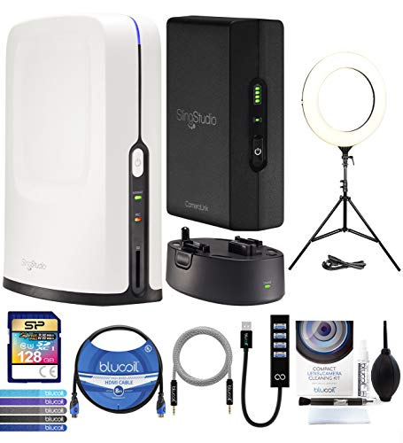 """SlingStudio Hub Production Switcher Bundle with Sling Studio Battery, CameraLink, 6"""" Ring Light, Blucoil USB-A Hub, Camera Cleaning Kit, 8' HDMI & 5' Aux Cables, 5X Cable Ties, and 128GB SDXC Card"""