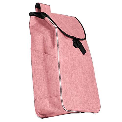 Faltbare Trolley-Tasche, Shopping Trolley Replacement Bag Doppelte Stoff Warenkorb Tasche Ersatzteile for Trolley-38L