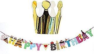 【19blue】 誕生日 飾り ガーランド ハッピーバースデー (クラウン)