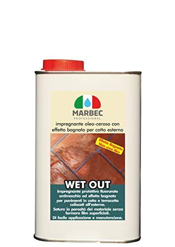 Marbec - Wet out 1LT | Impregnante oleo-ceroso con Effetto Bagnato per Cotto Esterno