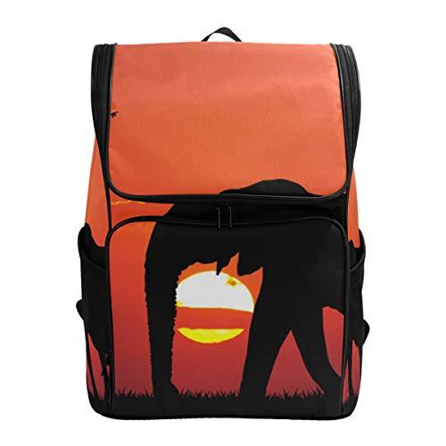 Fantazio Sac à Dos éléphant avec bébé pour Ordinateur Portable, Voyage, randonnée, Camping, décontracté, Grand Sac à Dos pour l'école