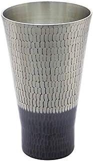 新光金属 タンブラー 錫 黒被仕上げ 中350ml 純銅錫 黒被仕上げ 手打ち鎚目タンブラー BR-202SB