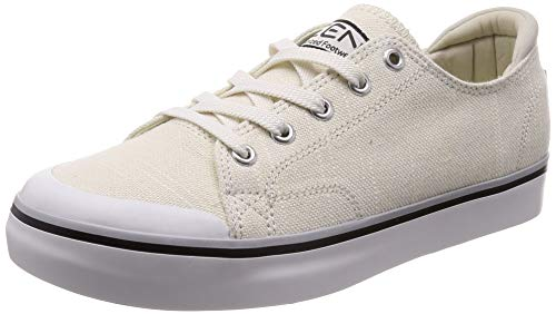 KEEN - Women's Elsa III Canvas Sneaker for Casual Everyday Use, White, 9.5 M US