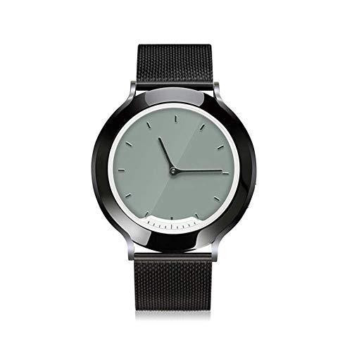 WGG Horloges Fitness Tracker, Smartwatch Waterdichte Fitness Polsband met Hartslagmeter Kleurmeter Stappenteller traploos opladen voor Mannen Dames B