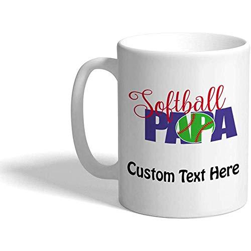 Gewohnheit Kaffeetasse 330 ml Softball-Papa trägt keramische Tee-Schale personalisierten Text zur Schau