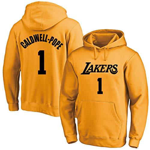 Uniformes de baloncesto para hombre, Lakers No. 1 Pope jersey, sudaderas con capucha deportivas, sudadera con capucha de terciopelo, sudaderas con capucha, 123, amarillo, M