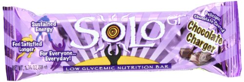 SoLo Gi Energy Bar Chocolate Charger Gluten Free Low Glycemic