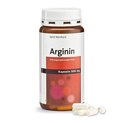 Sanct Bernhard Arginin-Kapseln 500 mg reines Arginin 150 Kapseln