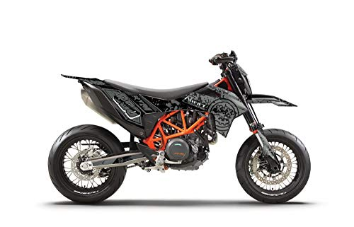 ARider Dekor für KTM 690 SMC-R 2019-2021 Smiley Edition (Grau)