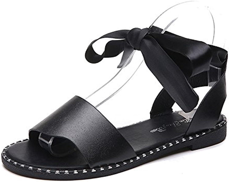 Women's shoes PU Summer Comfort Sandals Flat Heel for White Black