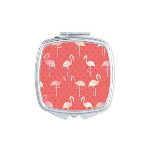 DIYthinker Flamingo Couleur du Motif carré Rose Miroir de Maquillage Compact Portable Mignon Cadeau Miroirs de Poche à la Main Multicolore