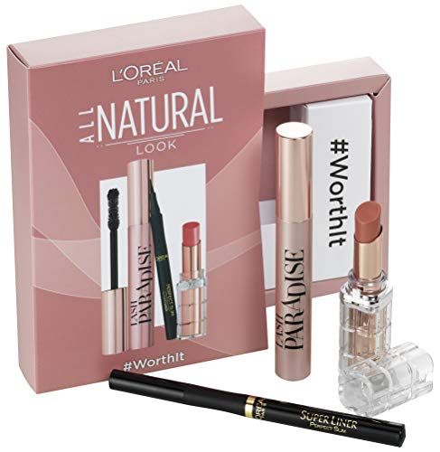 L'Oréal Paris 'All Natural'-Set: Lash Paradise Schwarz + Superliner Perfect Slim Schwarz +...