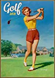 """Wall Calendar 2021 [12 pages 8""""x11""""] PinUp Sexy Girl Play Golf Vintage Sport"""