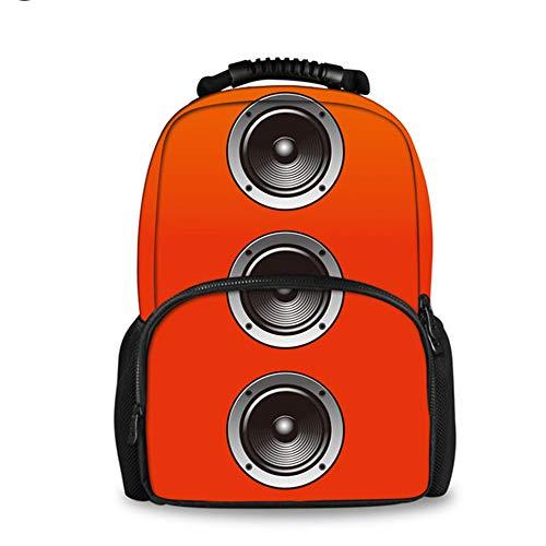 fhdc Rucksäcke 3D Lautsprecher Druck Rucksack Für Frauen Reisen Laptop Weibliche Filz Rucksäcke Teen MädchenCc2386A