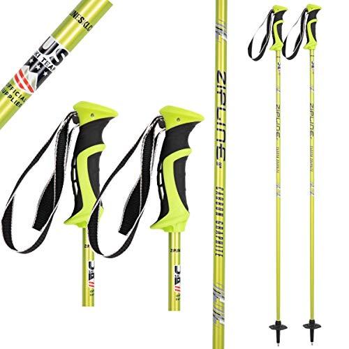 "Ski Poles Graphite Carbon Composite - Zipline Lollipop U.S. Ski Team Official Supplier (Lemon, 50"" in./127 cm)"