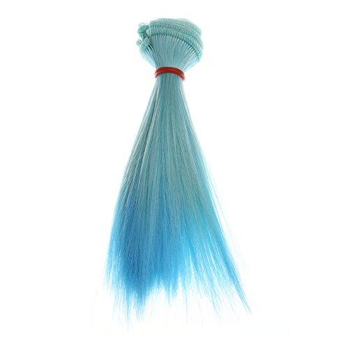 Damen Perücken Mode 15 cm Großhandel Glattes Haar Haar DIY/BJD,Nourich Haarverlängerung Perücke Puppe Damehaarperücke Haare Langhaar Haarteile Haar Wig (H)