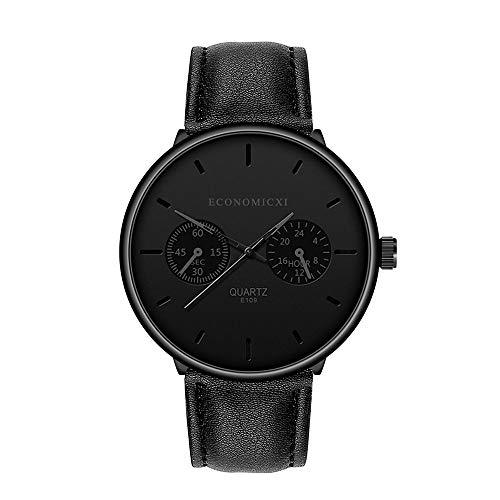 Why Should You Buy Ankola Men's Faux Chronograph Quartz Analog Watch Watch Leather Strap Business ...