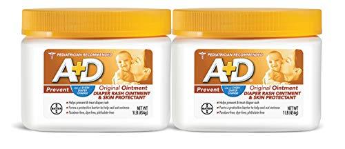 A+D Original Diaper Rash Ointment, 1 LB Jar (2 Pack)
