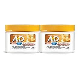 A+D Original Diaper Rash Ointment, 1 Pound Jar Pack of 2