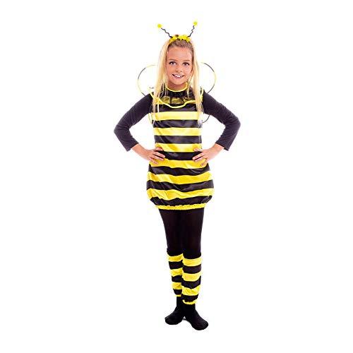 Disfraz Abeja Niña con Alas Antenas Calentadores【Tallas Infantiles 3 a 12 años】[Talla 7-9 años] Disfraz Niña Carnaval Animales Insectos Actuaciones Obras Teatro Desfiles Fiestas Disfraces