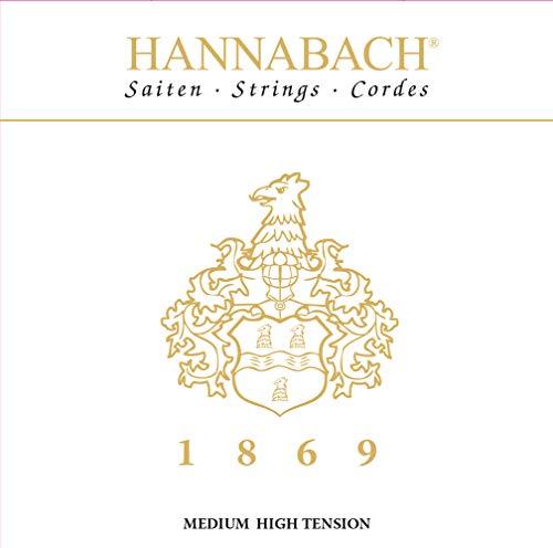 Hannabach MHT 18697MHT - Cuerdas para guitarra clásica (3 bajos), color negro y dorado