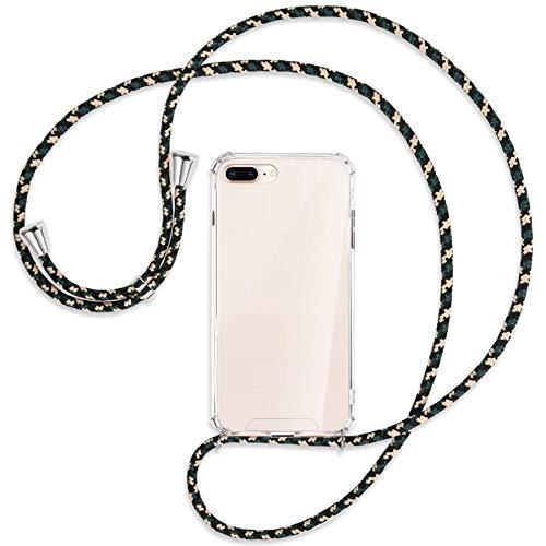 mtb more energy Collana Smartphone per Apple iPhone 7 Plus, 8 Plus, 7+, 8+ (5.5'') - Camouflage - Custodia Protettiva indossabile per Collo - Anti Shock TPU Case Cover Cordoncino Tracolla