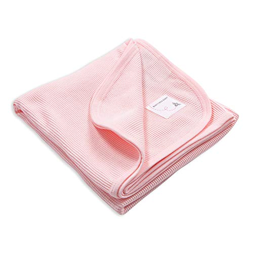 Burt's Bees Baby - Receiving Blanket, 100% Organic Cotton Swaddle, Stroller or Tummy Time Blanket