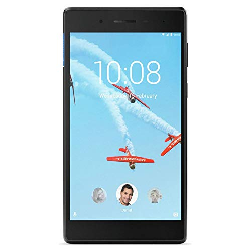 Lenovo Tab 7 Essential (7 inch Multi-Touch) Tablet PC MediaTek (MT8167D) 1.3GHz 1GB 16GB eMMC WLAN BT Webcam Android 7.0 (Integrated IMG GE8300 Graphics) Black