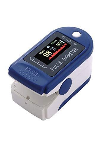 Pulsoximeter, Sauerstoffsättigungssensor (SpO2), Fingerspitzen-Pulsoximeter, Überwachung der Herzfrequenz, Vierfarben-OLED-Display mit Lanyard