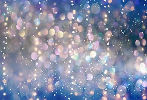 Fantasía Brillo Estrella Lunares luz Bokeh Boda cumpleaños Amor Fiesta bebé niño Foto Fondo fotografía telón de Fondo A22 9x6 pies / 2,7x1,8 m