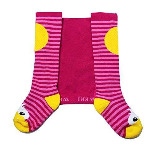 Weri Spezials ABS Krabbelstrumpfhosen mit der Ente in Pink Gr.74 (9-12 Monate)