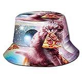 XCNGG Sombrero de Pescador Unisex para Adultos Espacio Exterior Pizza Cat Rainbow Laser, Taco, Burrito Galaxy Bucket Hat, Gorra de Sol Plegable, Protección máxima para UVA, Pesca Jardine