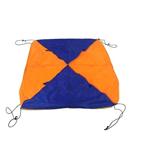 D-Form Bootszelt, 2/4 Personen Zelte, Polyester & Pu Beschichtung Zelt Wasserdichtes Zelt Tragbarer Sonnenschutz Langlebig Geeignet für Bootsangeln, Picknick(2 Personen)