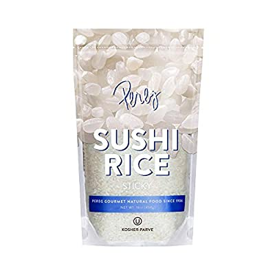 Sushi Rice (16 oz) - White Sticky Short Grain - Vegan, Non-GMO, Made In USA, - Sushi, Rice Ball, And Everyday Japanese Dishes - Resealable Packaging