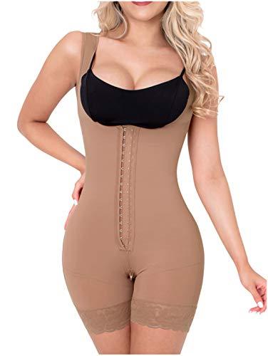 Sonryse 211BF Fajas Colombianas Reductoras Moldeadoras Postparto BBL Stage 2 Liposuction Post Surgical Compression Garments Women Shapewear Cocoa 2XL