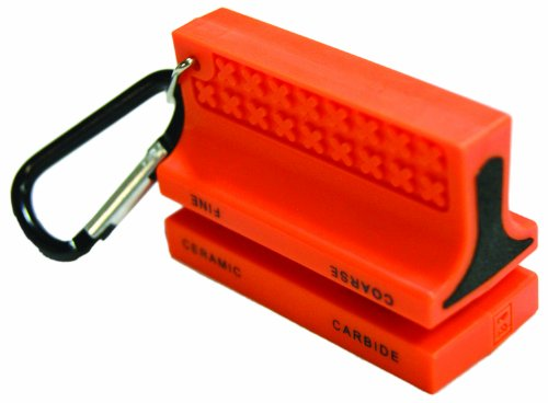 Ultimate Survival Technologies Ceramic Knife Sharpener Orange Ceramic & Carbide