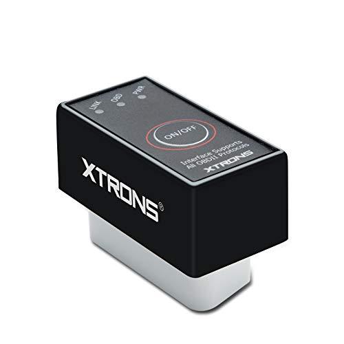 XTRONS Mini ELM327OBD2Bluetooth coche herramienta de diagnóstico escáner automático Obdii par Android