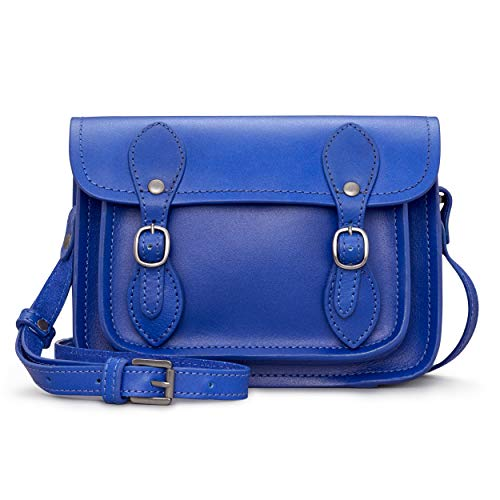 Tilney Satchel Leather Cross Body Bag/Handbag for Women (Cobalt Blue)