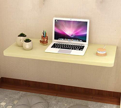 Yxsd klaptafel, eenvoudige wandtafel met metalen houder, eettafel, computertafel, desktopdikte: 2,5 cm, witte esdoorn
