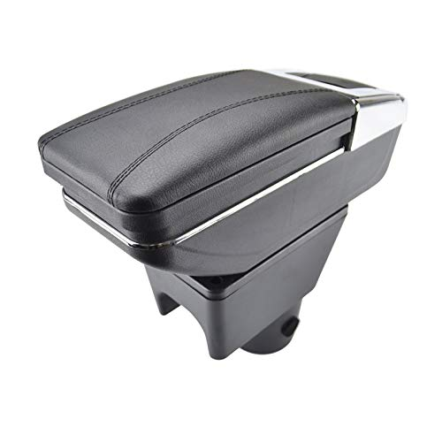 VIKEP Caja de almacenamiento giratorio de descanso para el brazo Fit para Renault Dacia Duster I 2010-2015 Armés Decoración Coche Styling 2011 2012 Accesorios de interior (Color Name : Black thread)