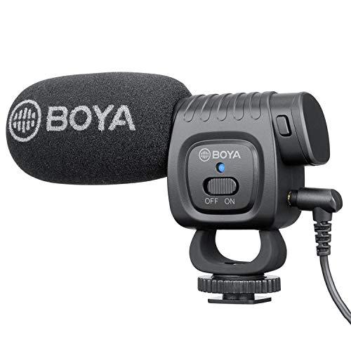 BOYA BM3011 Cardioide per montaggio su fotocamera Condensatore professionale Microfono a fucile Trasmissione Intervista video Microfono capacitivo Compatibile con iPhone Android SmartPhone Videocamera